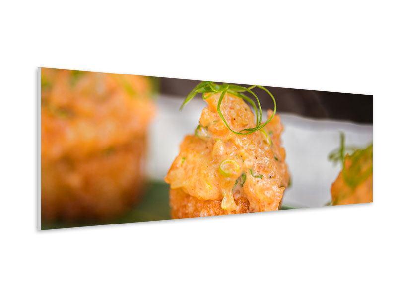 Hartschaumbild Panorama Asiatische Küche