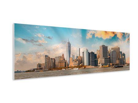 Hartschaumbild Panorama Skyline New York from the other Side