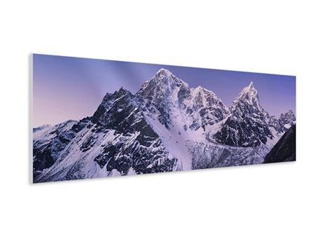 Hartschaumbild Panorama Taboche und Cholatse
