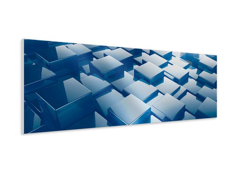 Hartschaumbild Panorama 3D-Cubes