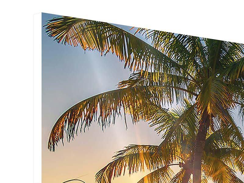 Hartschaumbild Panorama Das Strandhaus