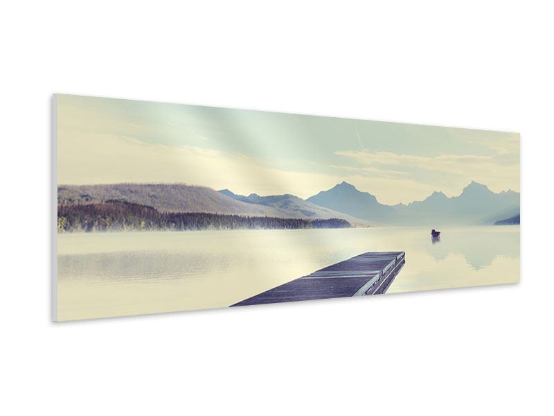 Hartschaumbild Panorama Bergromantik