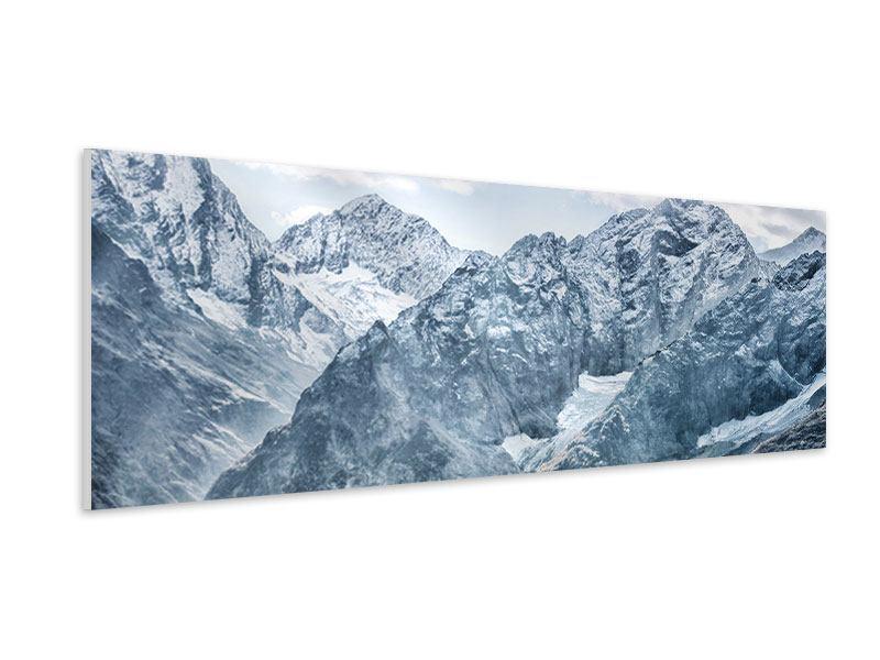 Hartschaumbild Panorama Gigantische Berggipfel