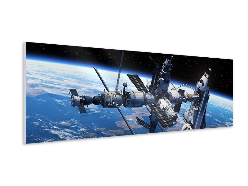 Hartschaumbild Panorama Satellit