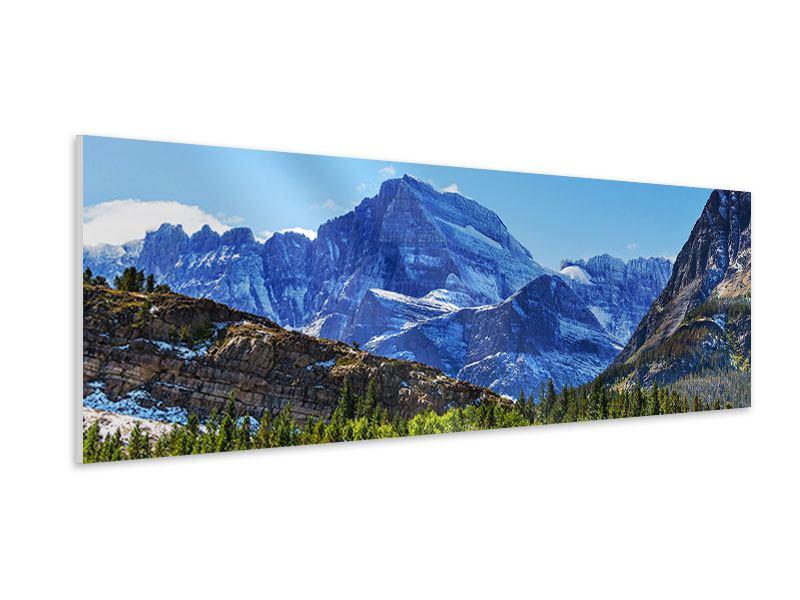 Hartschaumbild Panorama Dem Gipfel entgegen