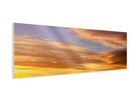 Hartschaumbild Panorama Himmlisch