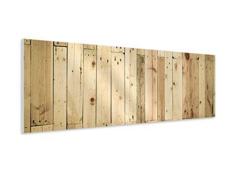 Hartschaumbild Panorama Holzpaneelen