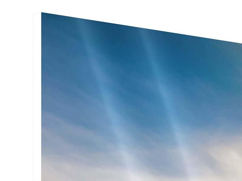 Hartschaumbild Panorama Über den verschneiten Gipfeln