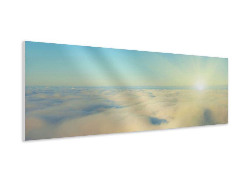 Hartschaumbild Panorama Dämmerung über den Wolken