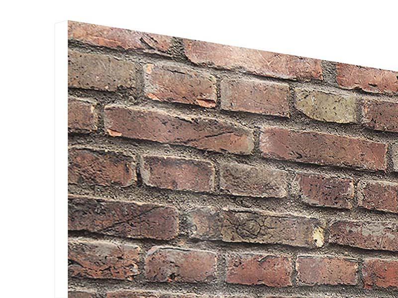 Hartschaumbild Panorama Brick Wall