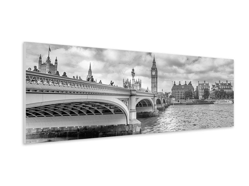 Hartschaumbild Panorama Westminster Bridge