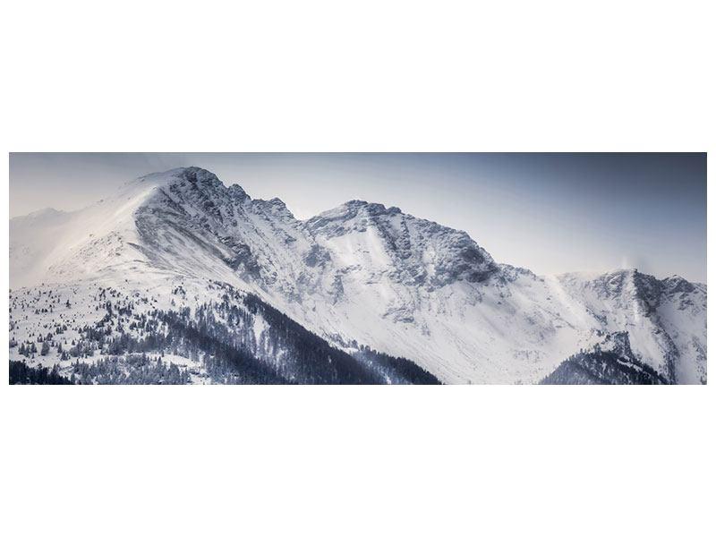 Hartschaumbild Panorama Die Berge der Schweiz