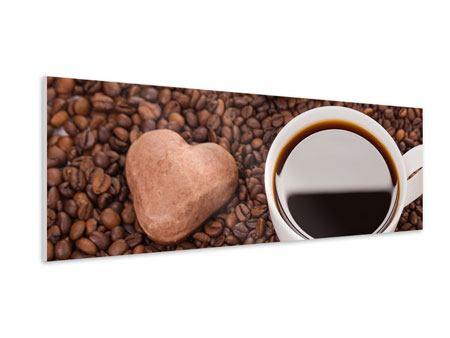 Hartschaumbild Panorama Pausenkaffee