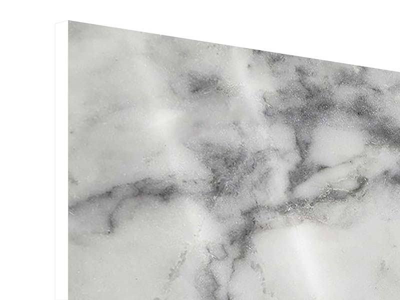 Hartschaumbild Panorama Klassischer Marmor
