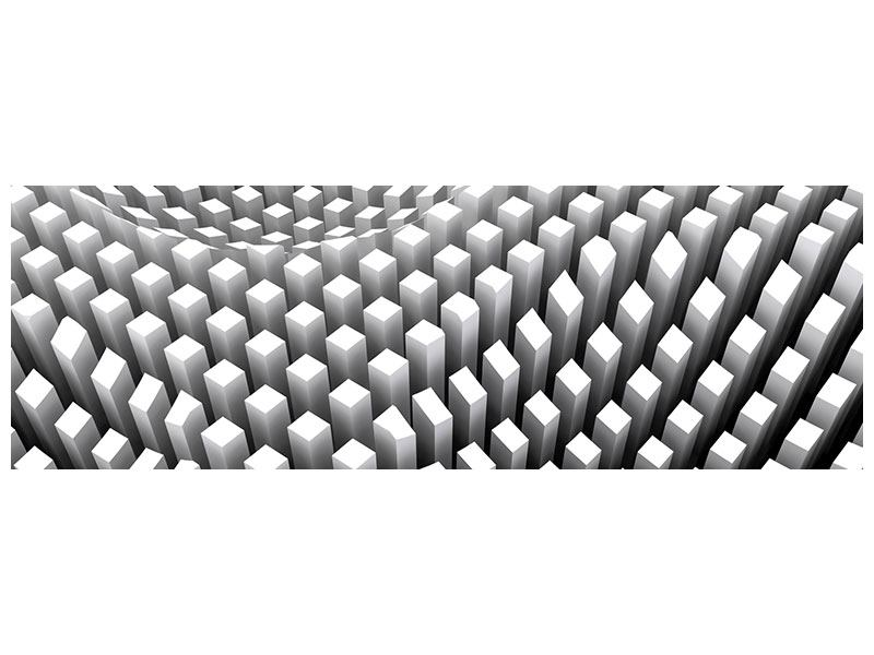 Hartschaumbild Panorama 3D-Rasterdesign