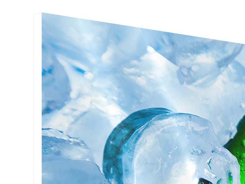 Hartschaumbild Panorama Eisflaschen