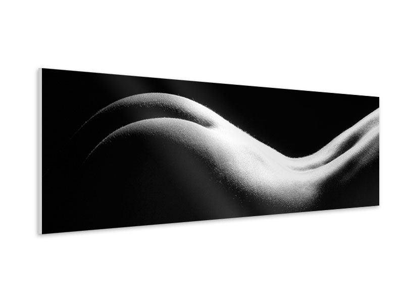 Hartschaumbild Panorama Nude