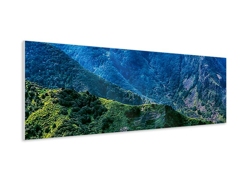 Hartschaumbild Panorama Die Berglandschaft