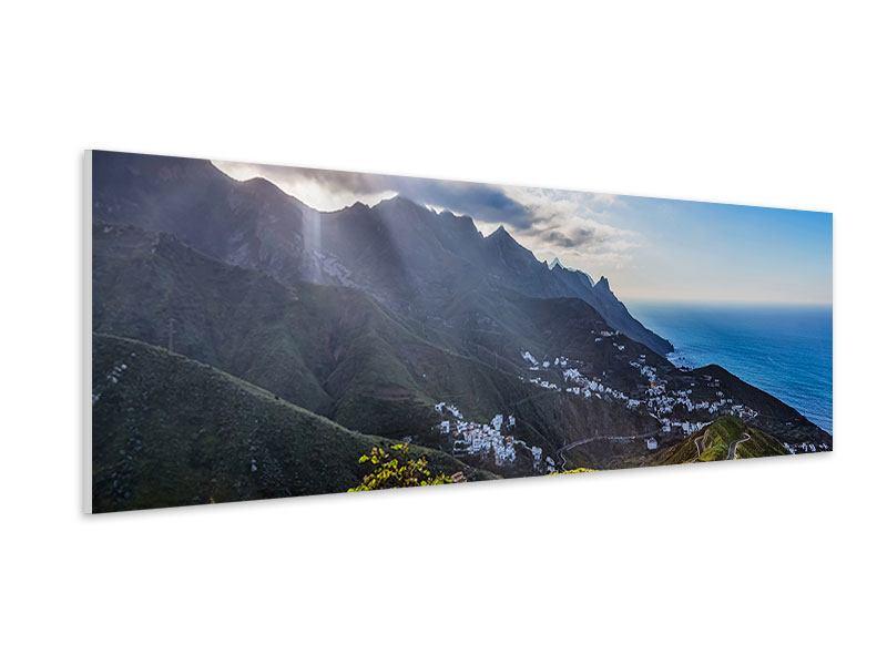 Hartschaumbild Panorama Der Frühling in den Bergen