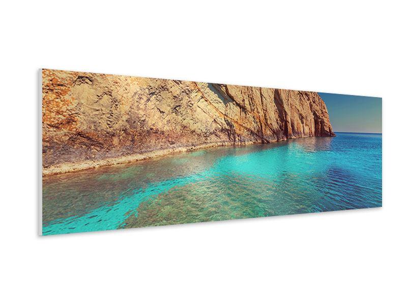 Hartschaumbild Panorama Wasser