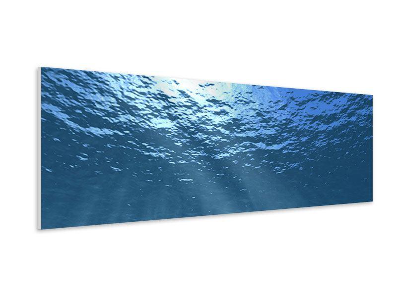 Hartschaumbild Panorama Sonnenstrahlen unter Wasser