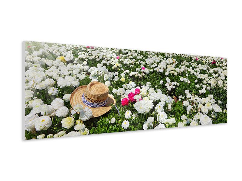 Hartschaumbild Panorama Die Frühlingsblumenwiese