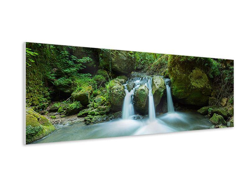 Hartschaumbild Panorama Wasserspiegelungen