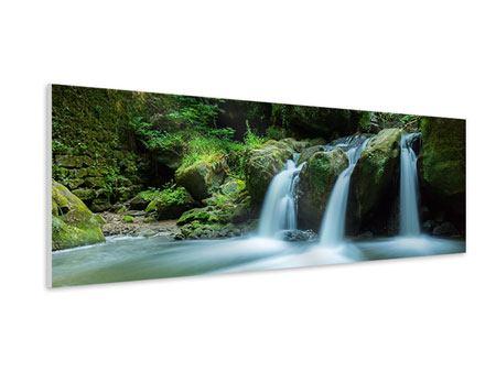 Hartschaumbild Panorama Fallendes Wasser