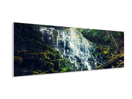 Hartschaumbild Panorama Feng Shui & Wasserfall