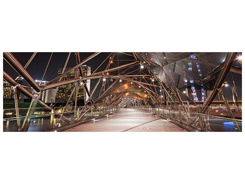 Hartschaumbild Panorama Brückenlichter