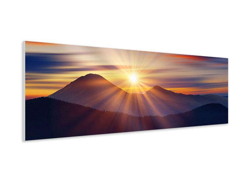 Hartschaumbild Panorama Märchenhafte Landschaft