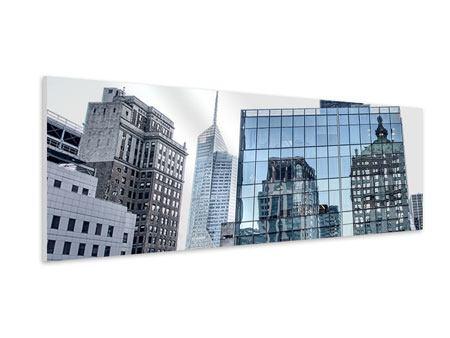 Hartschaumbild Panorama Wolkenkratzer NYC