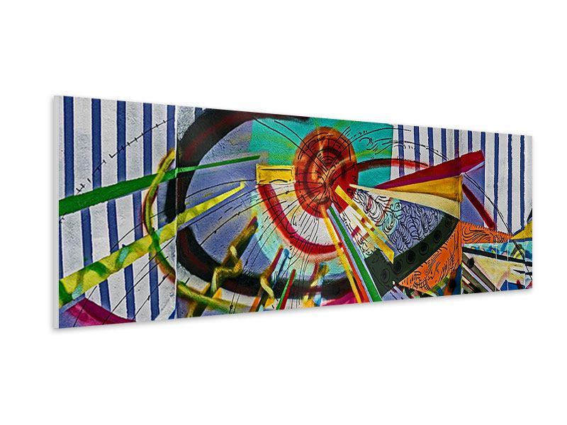 Hartschaumbild Panorama Künstlerisches Graffiti