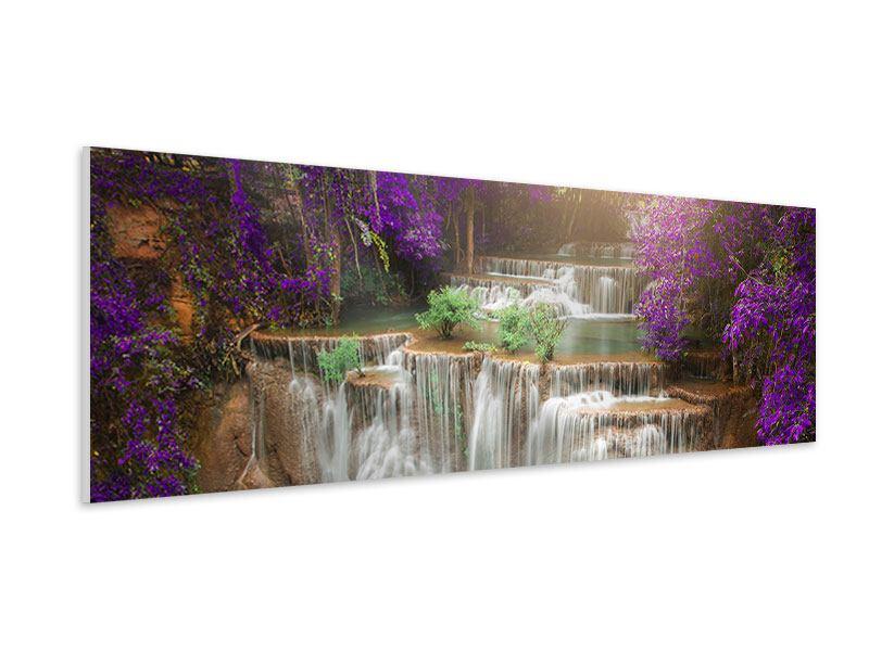 Hartschaumbild Panorama Garten Eden