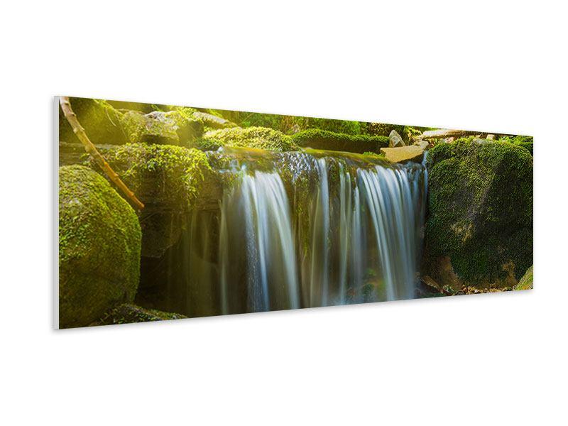 Hartschaumbild Panorama Schönheit des fallenden Wassers