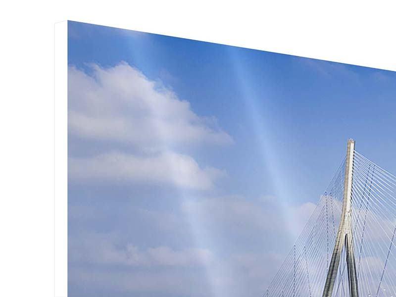 Hartschaumbild Panorama Die Pont de Normandie
