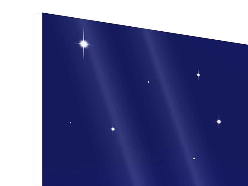 Hartschaumbild Panorama Der Nachthimmel