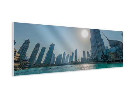 Hartschaumbild Panorama Wolkenkratzer-Architektur Dubai