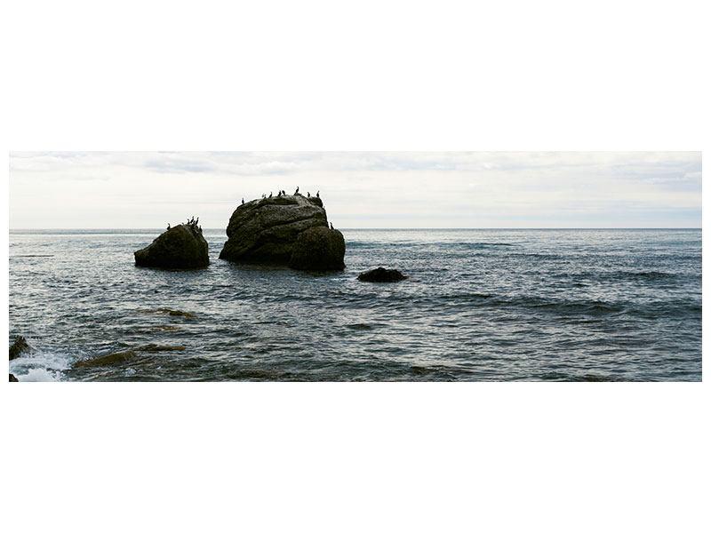 Hartschaumbild Panorama Leise Wellen