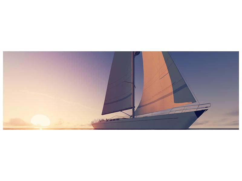 Hartschaumbild Panorama Das Segelschiff