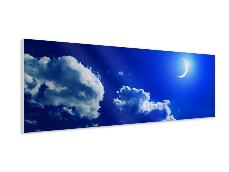 Hartschaumbild Panorama Der Mond