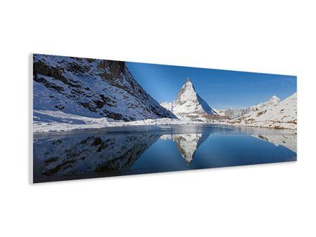 Hartschaumbild Panorama Der Riffelsee am Matterhorn