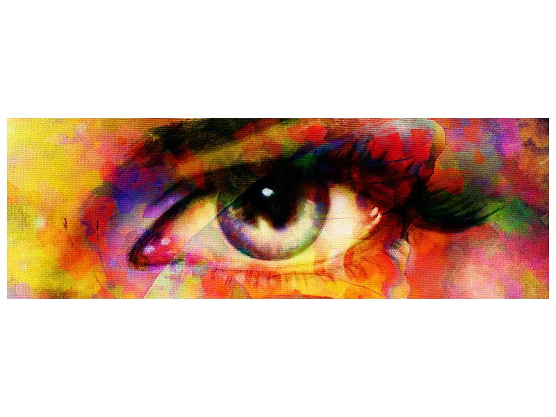 Hartschaumbild Panorama Das Auge