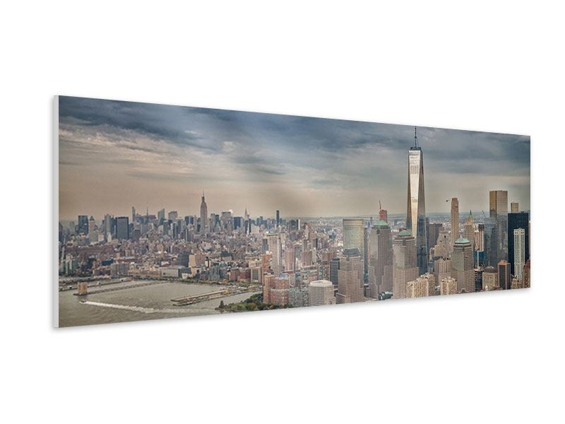 Hartschaumbild Panorama Skyline Manhattan