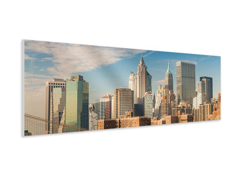 Hartschaumbild Panorama Skyline New York