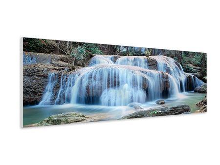 Hartschaumbild Panorama Ein Wasserfall