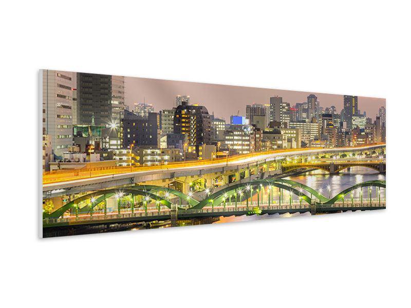 Hartschaumbild Panorama Skyline Das Lichtermeer von Tokio