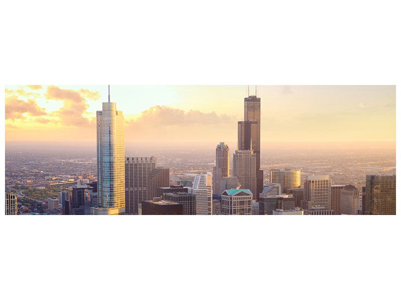 Hartschaumbild Panorama Skyline Chicago