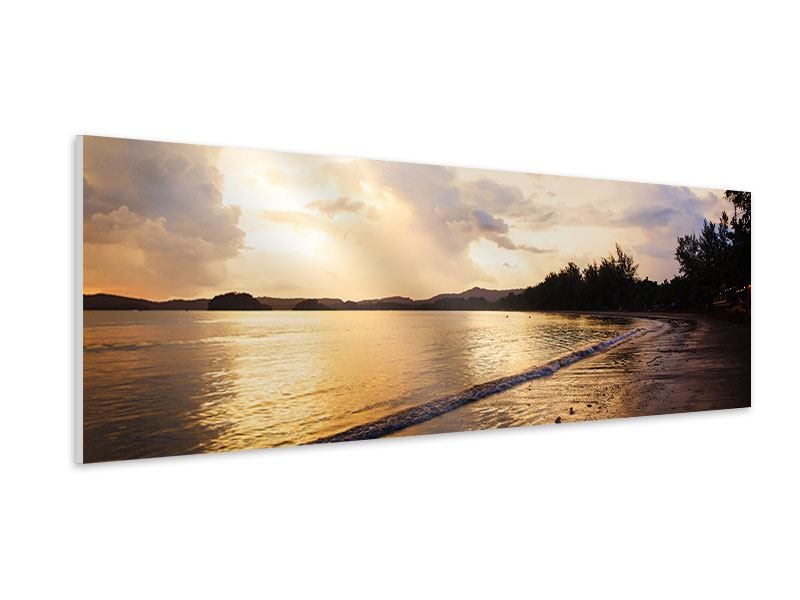 Hartschaumbild Panorama Das Ufer