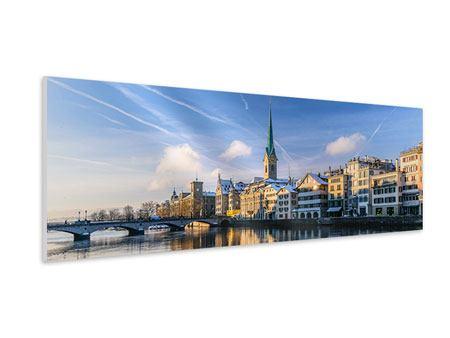 Hartschaumbild Panorama Zürich